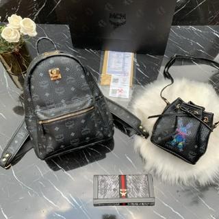MCM - エムシ-エム 新品 バッグパック ショルダーバッグ 長財布 3点セット