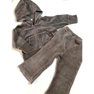ムジルシリョウヒン(MUJI (無印良品))のパーカー&パンツ セットアップ 80サイズ(トレーナー)