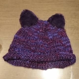 アナスイミニ(ANNA SUI mini)の【値下げ】ANNA SUI mini ベビー 猫耳 ニット帽(帽子)