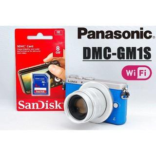 Panasonic - 珍しいブルーボディ♪ Wi-Fi搭載♪ パナソニック LUMIX GM1S