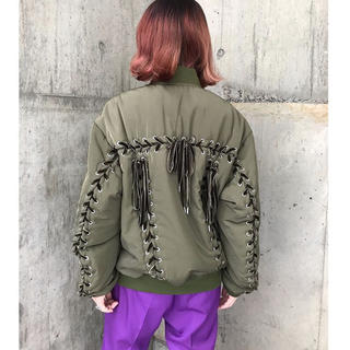 G.V.G.V. - 2018AW LACE UP MA-1 BLOUSON