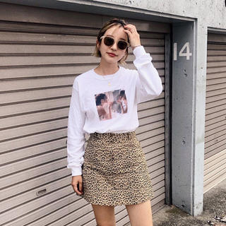 Lochie - MEME オリジナル フォト ロンT 長袖 Tシャツ ホワイト Sサイズ 新品