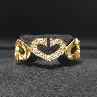 Cartier - ★美品★Cartier  リング cハート ゴールド ダイヤ