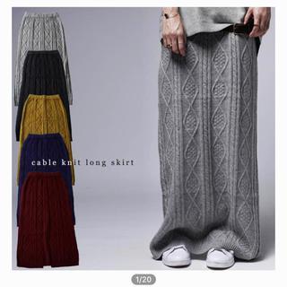 アンティカ(antiqua)のアンティカ❤️ケーブル編みニットロングスカート(ロングスカート)
