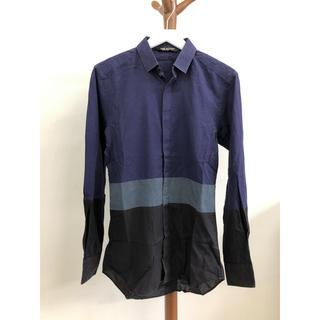 ニールバレット(NEIL BARRETT)の希少 NEIL BARRETT ニールバレット 切り替え 長袖シャツ 37 S(シャツ)