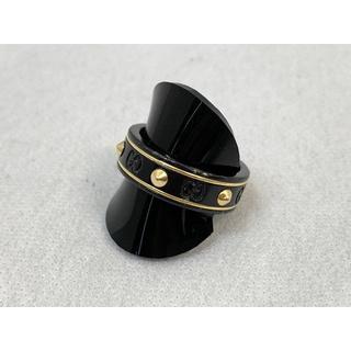 グッチ(Gucci)のグッチ アイコンリング Ag750 ブラックコランダム (リング(指輪))