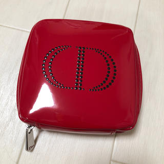ディオール(Dior)のDior ディオール ノベルティ ポーチ 非売品 赤(ノベルティグッズ)