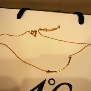 Tiffany & Co. - Tiffany&Co  Tスマイルペンダント(ミニ)18Kゴールド