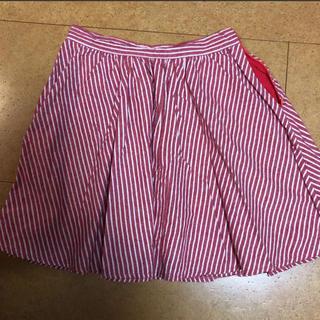 メリージェニー(merry jenny)のメリージェニーの赤ストライプスカート(ミニスカート)