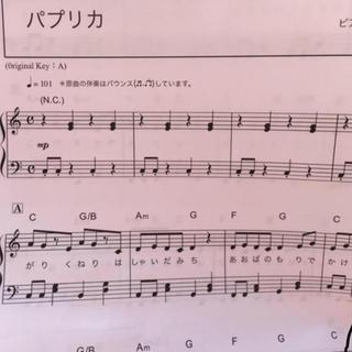 パプリカ 楽譜