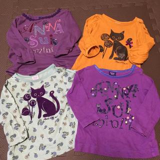 ANNA SUI mini - ANNA SUI mini アナスイミニ 4点 長袖 トップス 80 ネコ 猫