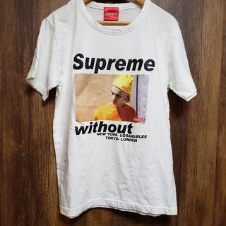 【白 グラフィック Tシャツ】