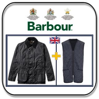 バーブァー(Barbour)のバーブァー アシュビー ワックスジャケット+キルティングライナー ネイビー「S」(ブルゾン)
