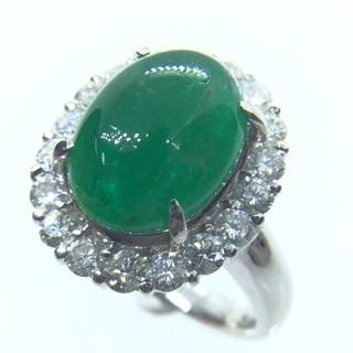 トクトクジュエリー エメラルド 5.23ct ダイヤモンド プラチナ リング (リング(指輪))
