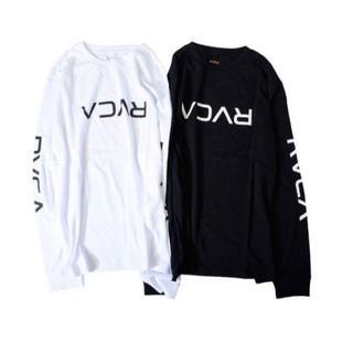 ルーカ(RVCA)のRVCA BIG FLIP RVCA LS TEE ロングスリーブTシャツ 黒M(Tシャツ/カットソー(七分/長袖))