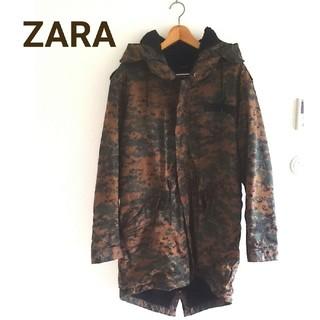ザラ(ZARA)のZARA メンズ ミリタリー風 コート ほぼ未使用(ミリタリージャケット)