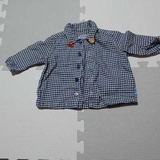 ミキハウス(mikihouse)のミキハウス チェックシャツ サイズ70(シャツ/カットソー)