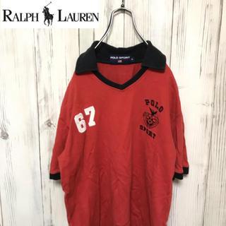 ポロラルフローレン(POLO RALPH LAUREN)の【希少】90s ヴィンテージ ポロラルフローレン 刺繍入り ラガーシャツ(ポロシャツ)