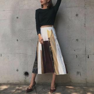 Ameri VINTAGE - アメリヴィンテージ FUDE ARTスカート  un3d .ZARA.ナルシス