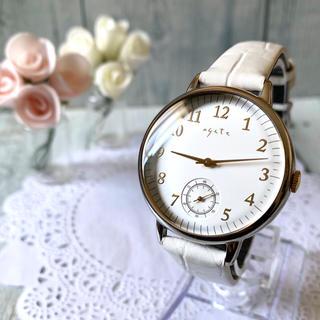 アガット(agete)の【美品】agete アガット 腕時計 スモールセコンド ボーイズ(腕時計)