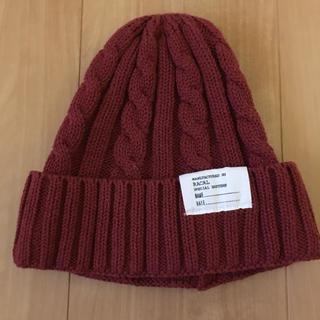 RACAL - 赤 ニット帽 レディス