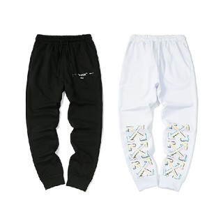 オフホワイト(OFF-WHITE)の オフホワイト男女兼用 ファッション パンツ 2色(ワークパンツ/カーゴパンツ)