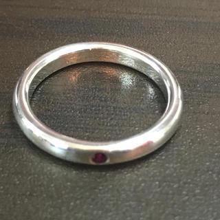 ティファニー(Tiffany & Co.)のティファニー 赤石入り指輪 11号(リング(指輪))