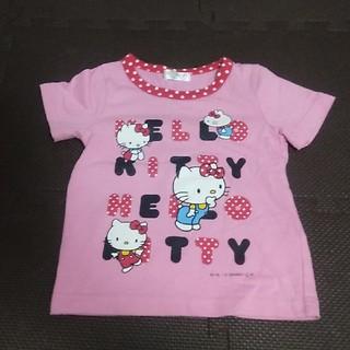 ハローキティ(ハローキティ)の【送料込】ハローキティ 半袖Tシャツ ピンク サイズ100(Tシャツ/カットソー)