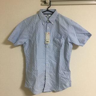 ユニクロ(UNIQLO)のユニクロ UNIQLO オックスフォード スリムフィット プリントシャツ M 新(シャツ)