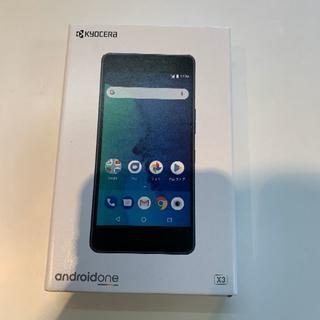キョウセラ(京セラ)の【新品】Android One x3 BLACK ワイモバイル(スマートフォン本体)