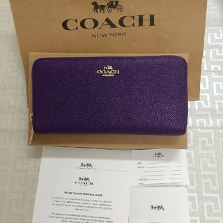 COACH - 新品★COACH コーチ  長財布 ファスナー F52372