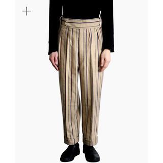 コモリ(COMOLI)のNEAT Cotton Linen Alternate Stripe (スラックス)