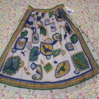 ジェーンマープル(JaneMarple)のジェーンマープルドンルサロン Bird' s scarf tuck skirt(ひざ丈スカート)