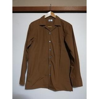 ユニクロ ユー オープンカラーシャツ ブラウン