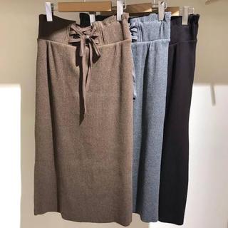 w closet - ダブルクローゼット♡レースアップリブスカート