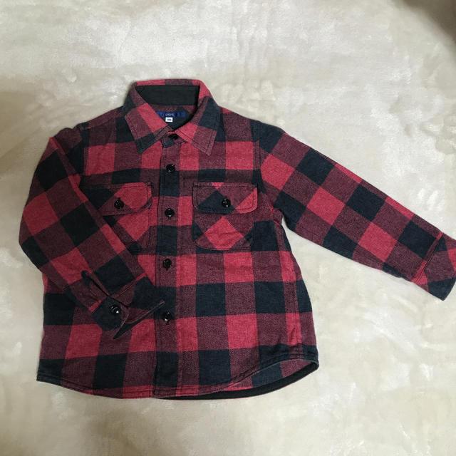 SHIPS(シップス)のSHIPS あったかシャツ100 キッズ/ベビー/マタニティのキッズ服男の子用(90cm~)(ブラウス)の商品写真