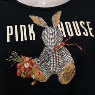 PINK HOUSE - ピンクハウス ウサギ ギンガム うさぎ Tシャツ トップス 長袖