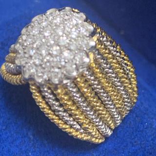 ポンテヴェキオ(PonteVecchio)のポンテヴェキオ YG WG ダイヤモンド リング(リング(指輪))