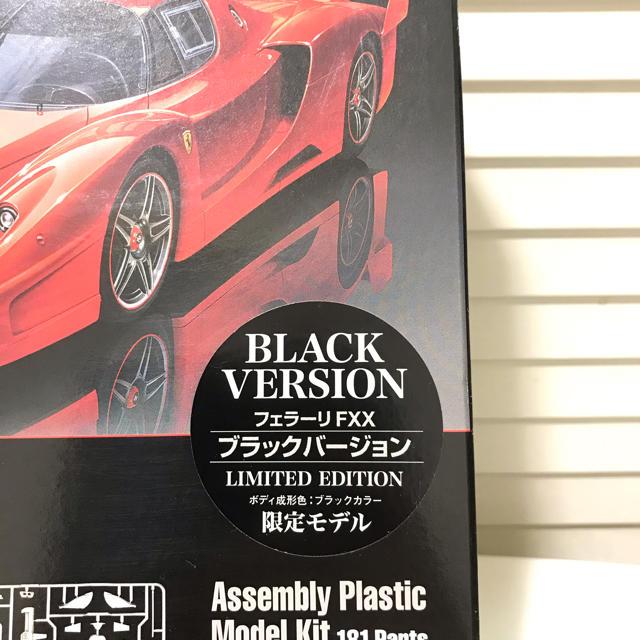 Ferrari(フェラーリ)のタミヤ 限定 フェラーリ FXX ブラック 1/24 Ferrari プラモデル エンタメ/ホビーのおもちゃ/ぬいぐるみ(模型/プラモデル)の商品写真
