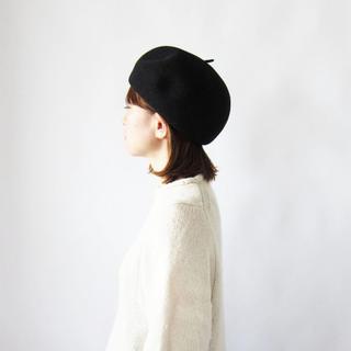 ネストローブ(nest Robe)の【Xmas SALE‼️】フレンチブル ボニーベレー ライトグレー(ハンチング/ベレー帽)