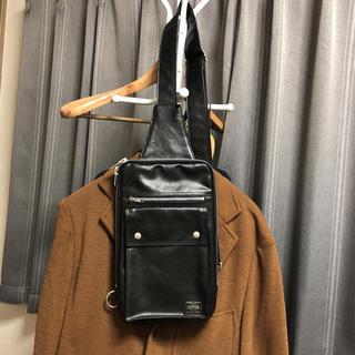 PORTER - 美品ポーター ショルダーバッグ  メンズ ブラック