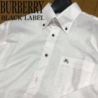 バーバリーブラックレーベル(BURBERRY BLACK LABEL)の[美品] 英国 バーバリー ボタンダウン カッターシャツ L(シャツ)