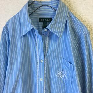 Ralph Lauren - LAUREN ラルフローレン レース 刺繍 シャツ US古着 大きめMサイズ程度