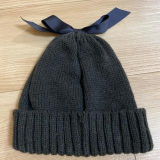 petit main - リボンニット帽 ニットキャップ