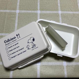 ピーナッツ(PEANUTS)のスヌーピーランチボックス ジェルクール(保冷剤になるフタ)(弁当用品)