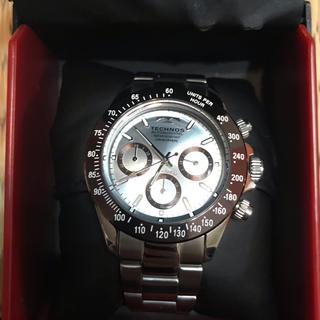 TECHNOS - 美品 TECHNOS テクノス  クロノグラフ 腕時計 水色