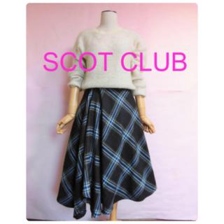SCOT CLUB - 【SCOT CLUB】デザインフレアースカート☆チェック☆