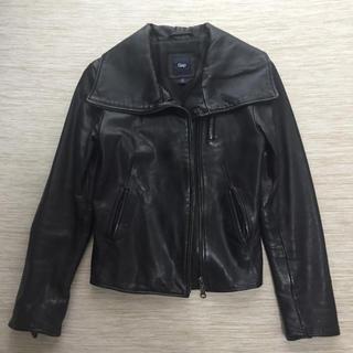 ギャップ(GAP)のライダースジャケット レザージャケット Gapギャップ 羊 黒(ライダースジャケット)