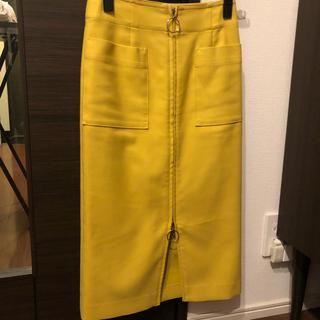 ノーブル(Noble)のノーブル ジップアップタイトスカート 34(ひざ丈スカート)