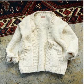 トゥデイフル(TODAYFUL)のTODAYFUL  Hand Knit Cardigan/36(カーディガン)
